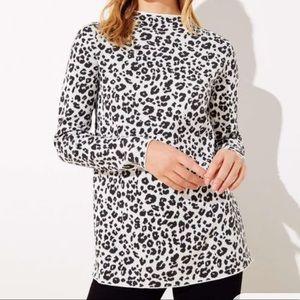 Leopard mock neck sweater!